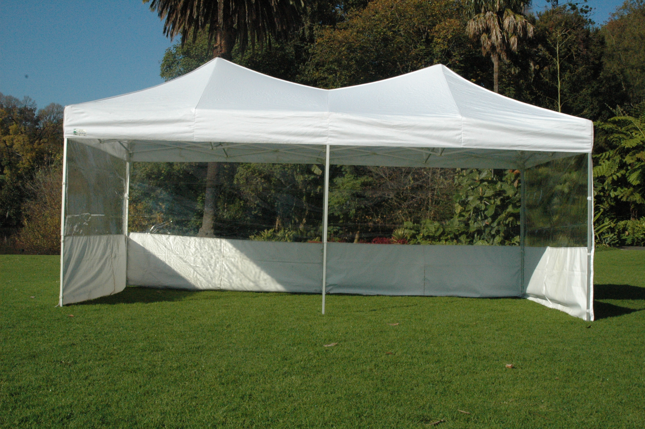 3m x 6m with half clear walls : tent melbourne - memphite.com