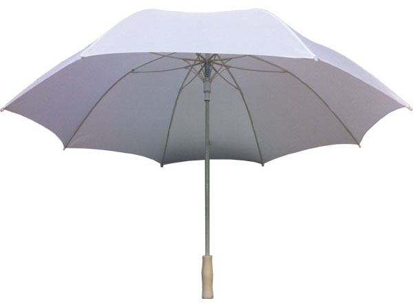 white handheld umbrella
